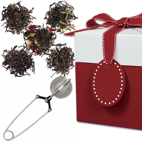Earl Grey Sampler with Mesh Pincer Spoon in a Gift Box