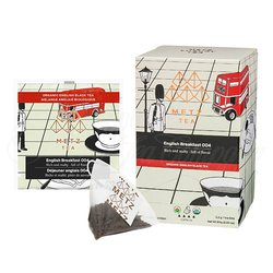 Organic English Breakfast (25 Loose-Leaf Pyramid Teabags Carton)
