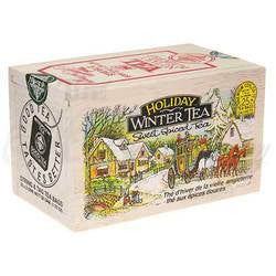 Holiday Winter Softwood Chest of 25 tea bags