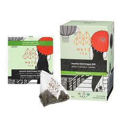 Organic Jasmine Gold Dragon Green Tea (25 Loose-Leaf Pyramid Teabags Carton)