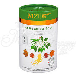 Ginseng Maple Green Tea Decorative Pyramid Tea Bag Canister