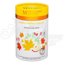 Maple Tisane(Herbal) Decorative Pyramid Tea Bag Canister