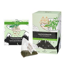 Japan Sencha Mikado Green Tea (25 Loose-Leaf Pyramid Teabags Carton)