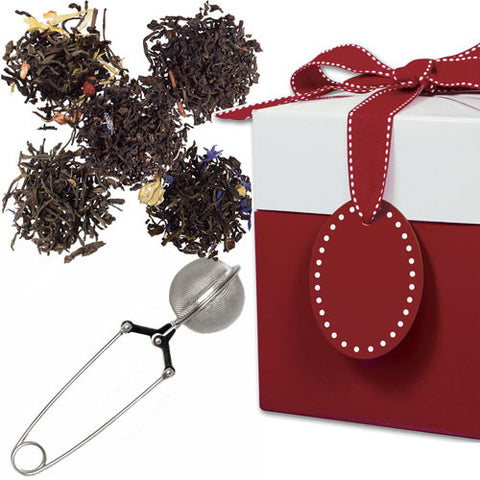 Traditional Tea Sampler with Mesh Pincer Spoon in a Gift Box