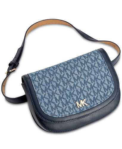 MICHAEL KORS - Denim Signature Belt Bag, Navy (L/XL)