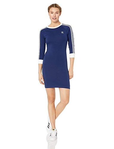 ADIDAS Originals - Women's 3-Stripes Dress, Dark Blue (Large)