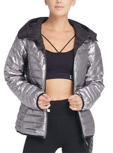Load image into Gallery viewer, DKNY Sport- Women's Reversible Hooded Pewter Jacket