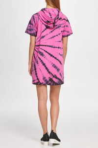 DKNY - Tie Dye Short Sleeve Sneaker Dress, Rebel Pink (S,L)