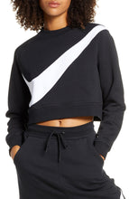 Load image into Gallery viewer, NIKE - Womens Fitness Workout Sweatshirt, Black/White (M,L)