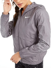 Load image into Gallery viewer, NIKE - Womens Essential Hooded Jacket Flash Graphic Print, Gunsmoke (XS)