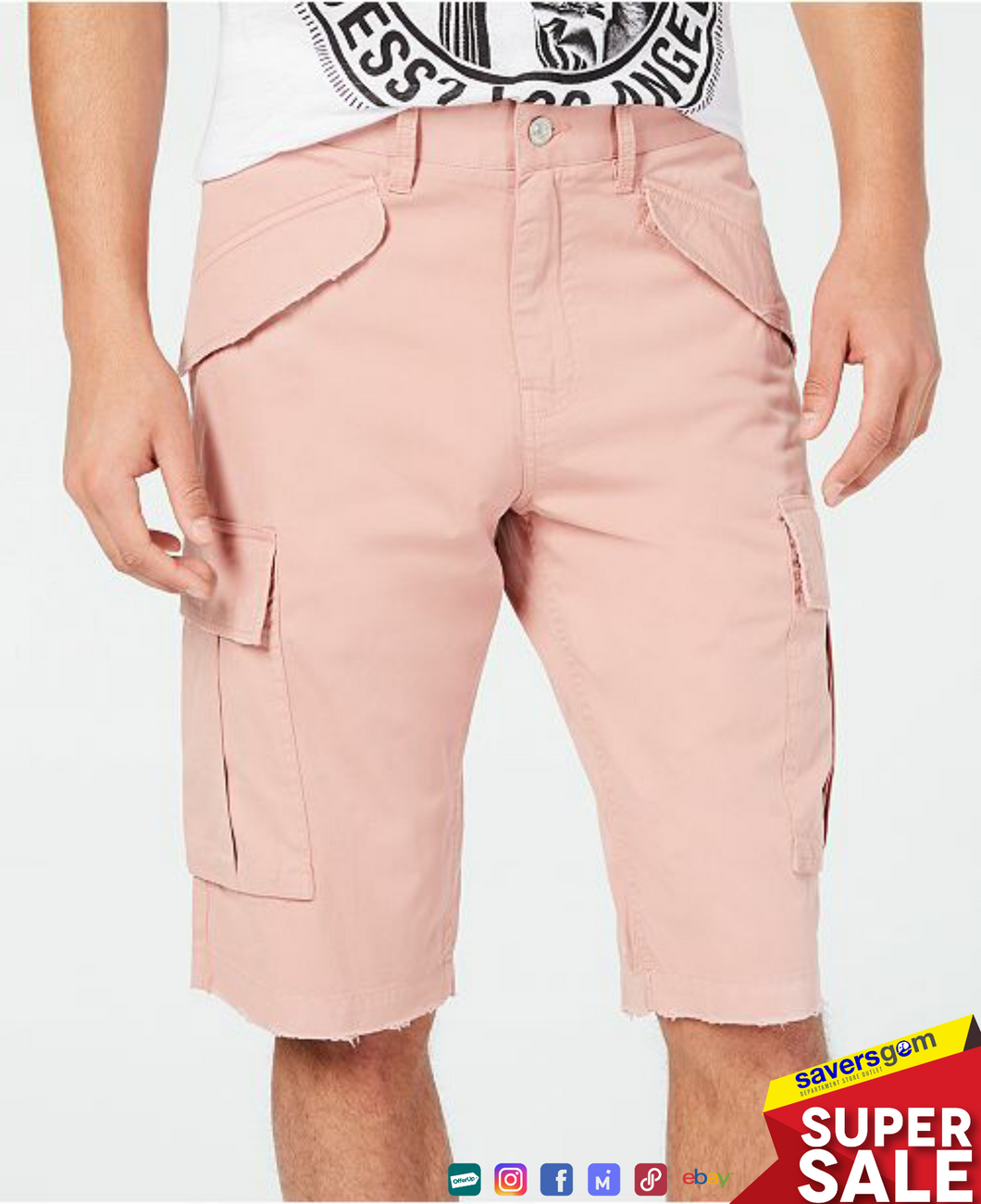 Guess - Men's Summery Stretch Cargo Shorts
