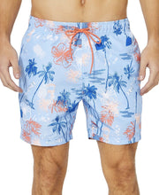 "Load image into Gallery viewer, NAUTICA - Men's Island Print 6"" Inseam Swim Trunks, Noon Blue (XL,XXL)"