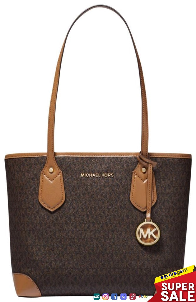 Michael Kors -Eva Small Logo Canvas Tote