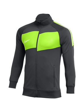 NIKE - Men's Dry Fit Academy Pro Jacket Soccer Sweatshirt, Grey Volt (S)