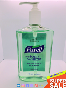 Purell - Hand Sanitizer Aloe Formula - 12FL OZ - Pack Of 5