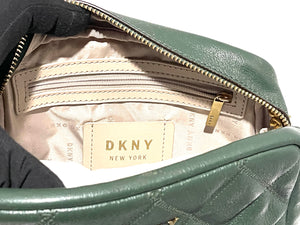 DKNY - Sofia Double-Chain Genuine Leather Shoulder Bag (Green)