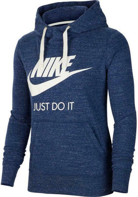 NIKE - Women's Sportswear Gym Vintage Hoodie Long Sleeve Lightweight, Blue (XS,M)