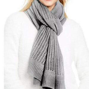 DKNY - Women's Open Knit Blocked Wrap Scarf, Multiple Colors Available (One Size)