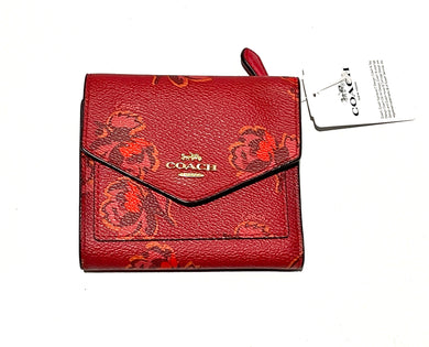 COACH - Red Apple/Red Floral Print Small Wallet (79430 GDPLG)