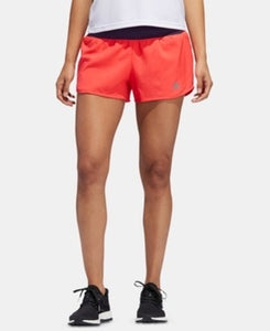 "ADIDAS - Women's Run It ClimaLite 3"" Shorts, Shore Red (L)"