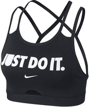 Load image into Gallery viewer, NIKE - Women's Swoosh JUST DO IT Sports Bra, Black (S,M)
