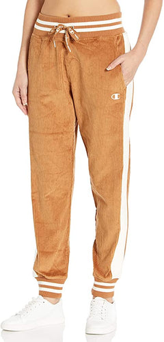 CHAMPION - Women's Corduroy Pant W/Reverse Weave, Brown Sepia (L,XL) LAST ACT!