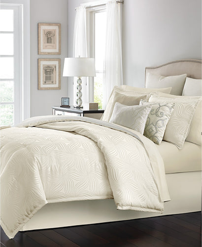 MARTHA STEWART Collection - Juliette 14 Piece Comforter Set Queen, Ivory