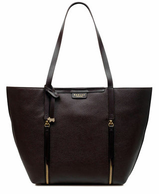 RADLEY LONDON - Penhurst Extra-Large Leather Zip Tote (Dark Brown)