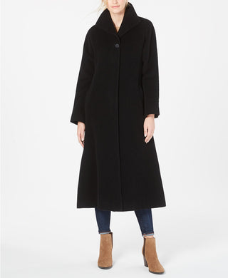JONES NEW YORK - Maxi Flyaway Coat, Black (Size 4/Small)