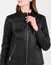 Load image into Gallery viewer, RALPH LAUREN - Women's Motor Biker Lamb Leather Jacket, Black (L)