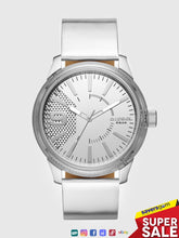 Load image into Gallery viewer, Diesel - Men's Rasp NSBB Three-hand Silver & Leather Watch
