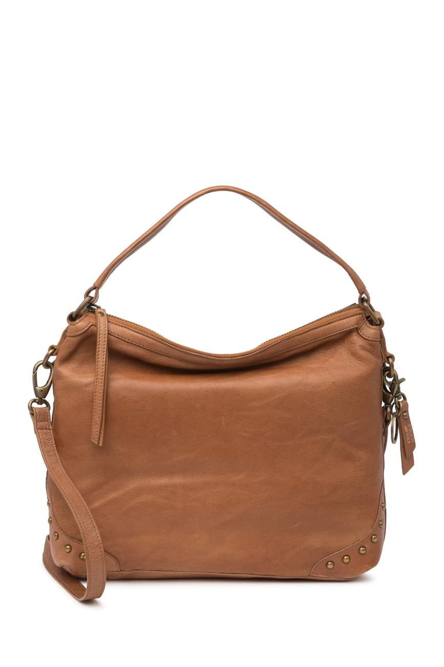 FRY AND CO - Odessa Genuine Leather Hobo Bag (Cognac)