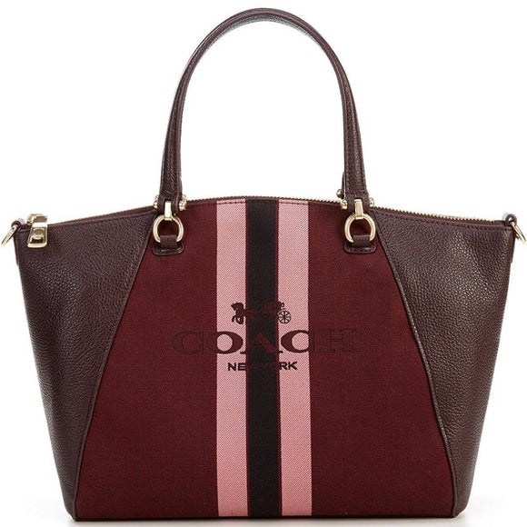 COACH - Prairie Satchel With Horse And Carriage (Oxblood)