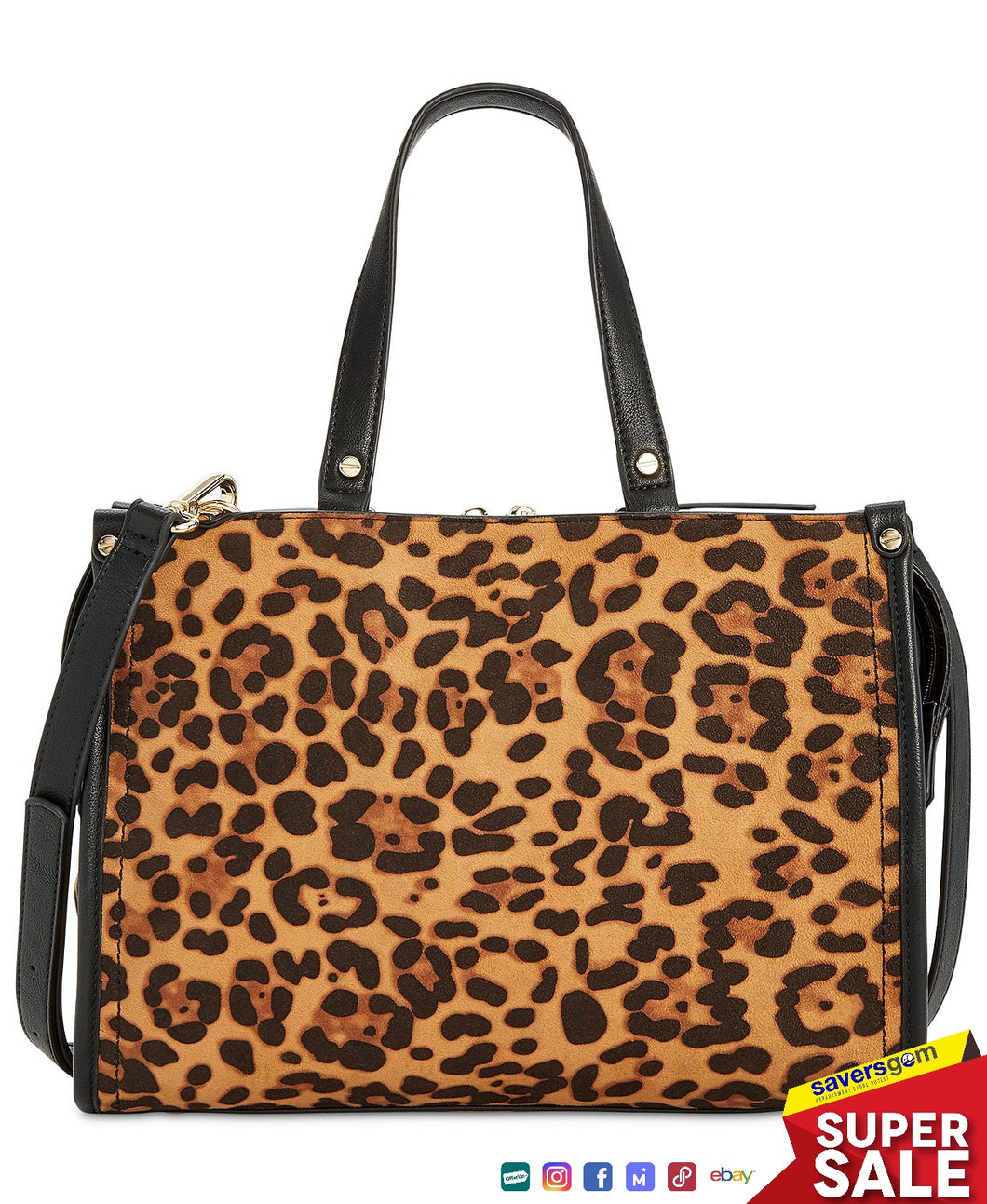 INC International Concepts - Remmey Leopard-Print Satchel, Leopard Print