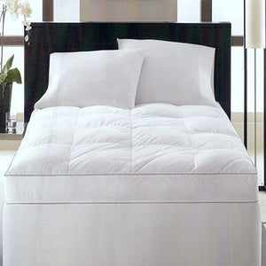 "HOTEL COLLECTION - 4"" Gusseted Luxury 400T King Fiberbed Down Alternative Base, White (King)"