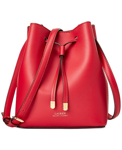 LAUREN Ralph Lauren - Mini Debby II Drawstring Bag (Dryden Red)