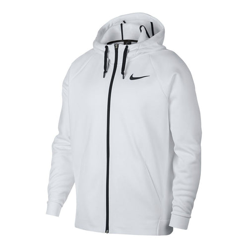 NIKE - Men's Nike Therma Full-Zip Training Hoodie, White (Size M)