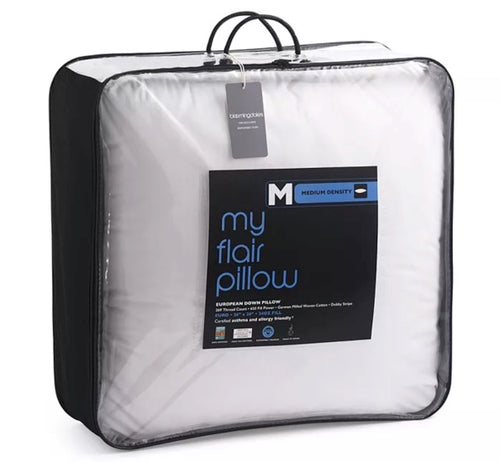 "MY FLAIR PILLOW - Asthma & Allergy Friendly Down Pillow (Euro Pillow 26"" X 26 "")"