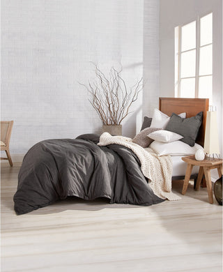 DKNY - Pure Flannel King Comforter Set, Gray (King 108