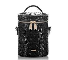 Load image into Gallery viewer, BRAHMIN - Brynn Barrel Bag Black Melbourne (Genuine Leather)
