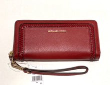 Load image into Gallery viewer, MICHAEL KORS -  Lexington Large Travel Continental (Burgundy/gold)