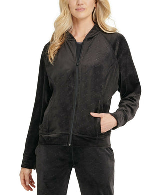 DKNY - Sport Velour Logo Print Bomber Jacket, There Colors Available (XS,S,M,L)