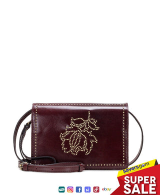 Patricia Nash - Studded Floral Lanza Crossbody, Red
