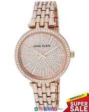 Load image into Gallery viewer, Anne Klein - Women's AK/3320PVRG Swarovski Crystal Accented Rose Gold-Tone Bracelet Watch