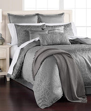 Load image into Gallery viewer, MARTHA STEWART - Collection Radiant Day 14 Piece Floral Comforter Set, Grey Silver (King)