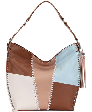 THE SAK -  Silverlake Tobacco Whipstitch Patch Leather Hobo