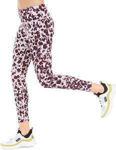 CALVIN KLEIN - Performance Leopard Print High Waist Leggings 7/8 (S)