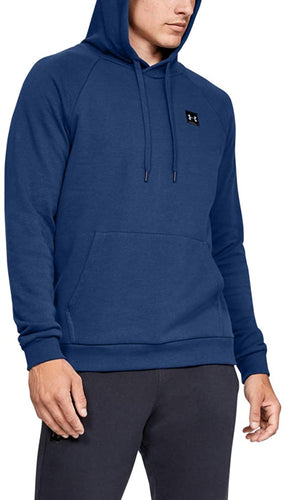 UNDER ARMOUR - Men's Rival Fleece Pullover Hoodie, American Blue (Size L)