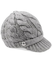 Load image into Gallery viewer, MICHAEL KORS - Super Cable Peak Hat, Grey (O/S)