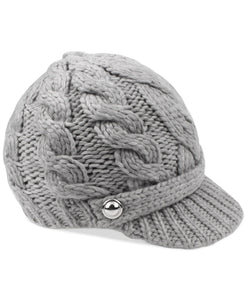 MICHAEL KORS - Super Cable Peak Hat, Grey (O/S)